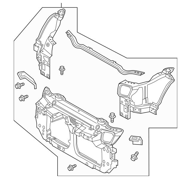 Radiator Support for 2007 Nissan 350Z|62500-CD705