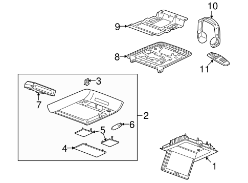 Entertainment System Components for 2008 Buick Enclave