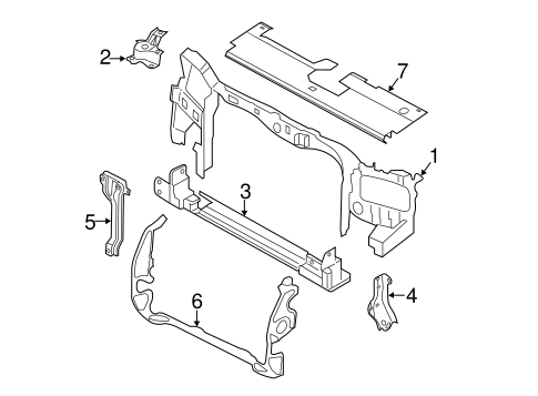 Radiator Support for 2009 Mercury Mariner