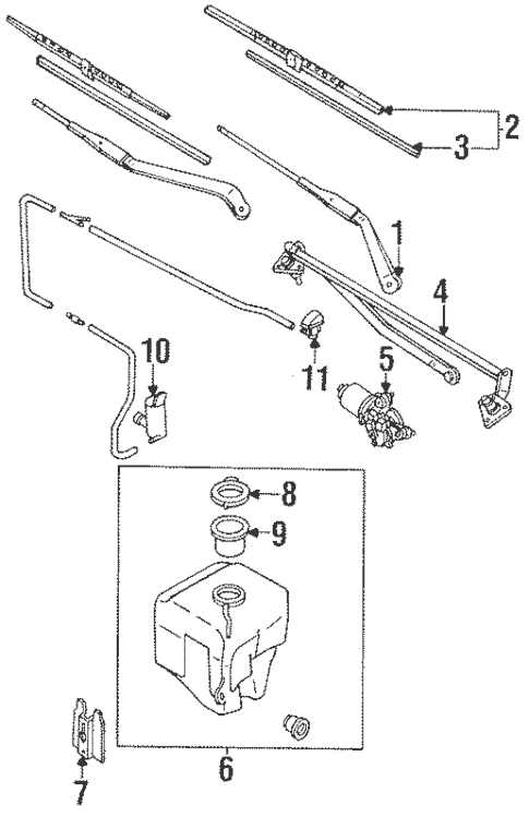 Genuine OEM Wiper Components Parts for 1991 Toyota