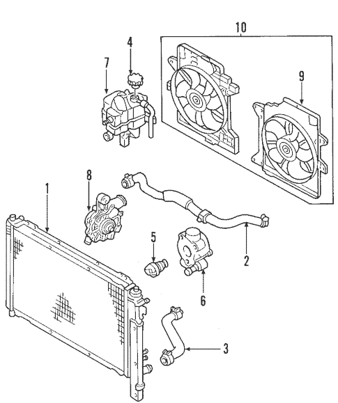 OEM 2005 Ford Escape Cooling System Parts