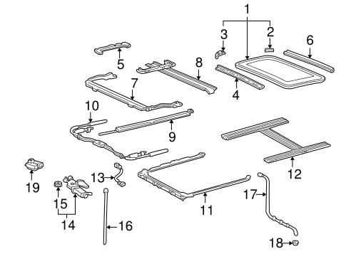2001 land cruiser electrical wiring diagram emg guitar pickups genuine oem sunroof parts for toyota base olathe 1
