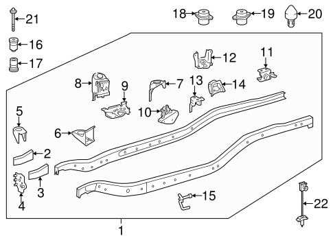 Genuine OEM Frame & Components Parts for 2014 Toyota