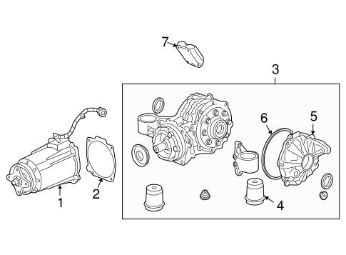OEM 2008 Pontiac Torrent Axle & Differential Parts