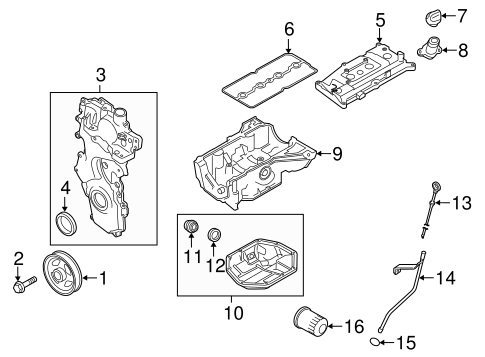 ENGINE PARTS for 2015 Nissan Sentra