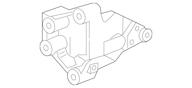 2005-2008 Honda Bracket, Rear Engine Mounting 50827-S9V