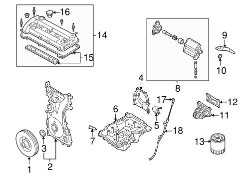 Genuine OEM Engine Parts Parts For 2008 Mazda 3 i