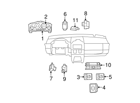 CLUSTER & SWITCHES for 2009 Chrysler Town & Country