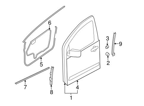 OEM 2017 Nissan Frontier Door & Components Parts