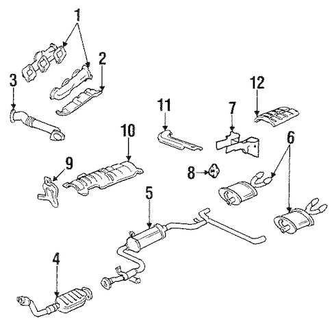 OEM 1995 Chevrolet Lumina Exhaust Manifold Parts