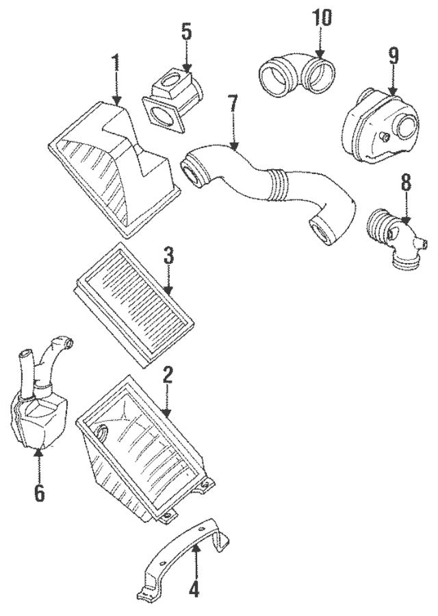 1990-1994 Subaru Legacy Mass Air Flow Meter / Vin Required