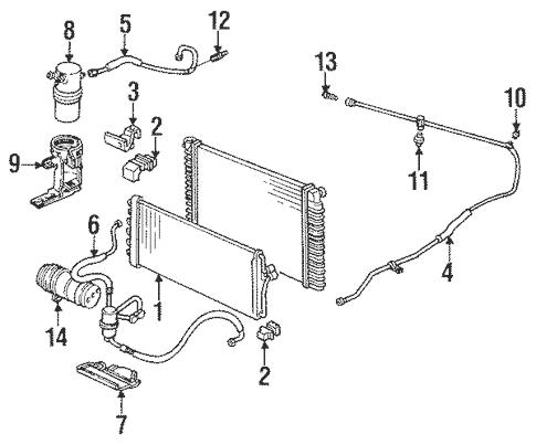 OEM 1995 Cadillac Seville Condenser, Compressor & Lines