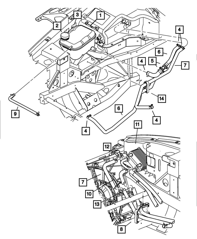 5.7 Hemi Heater Hose Diagram : heater, diagram, Genuine, MOPAR, Heater, 5290217AA