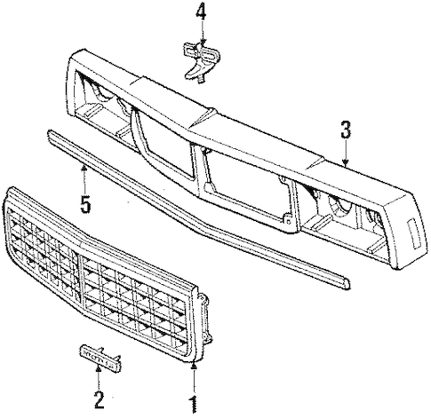 14071283 Header Panel for 1985 Chevrolet Caprice : GM