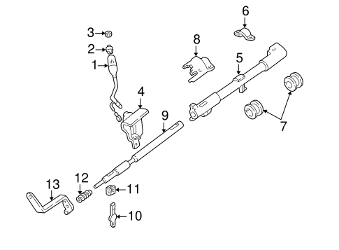 Steering Column for 1996 Ford E-350 Econoline Club Wagon