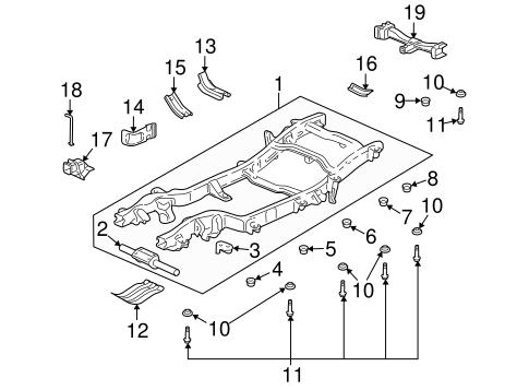 OEM 2003 Hummer H2 Frame & Components Parts