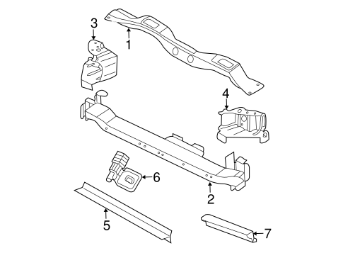 RADIATOR SUPPORT for 2006 Chrysler Town & Country