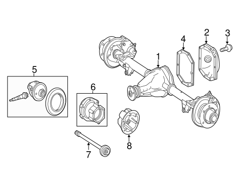 Axle & Differential for 2011 Mercedes-Benz Sprinter 3500