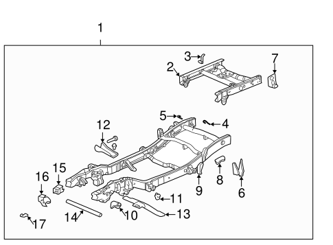 OEM FRAME & COMPONENTS for 2001 Chevrolet Silverado 2500