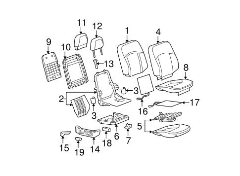 OEM 2007 Buick LaCrosse Passenger Seat Components Parts