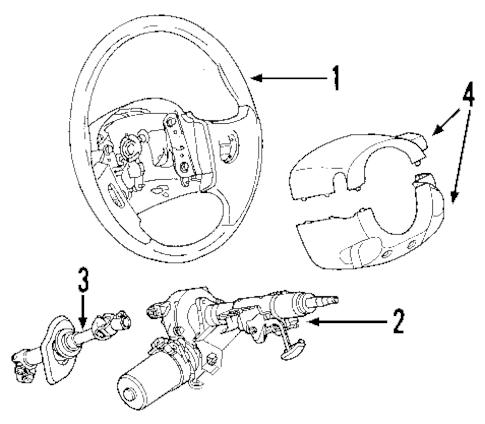 STEERING COLUMN for 2005 Chevrolet Equinox