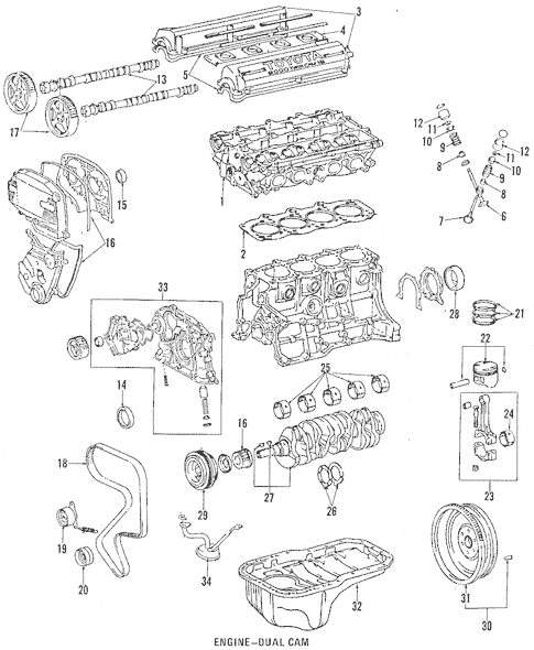 Genuine OEM Engine Parts for 1990 Toyota Celica All Trac