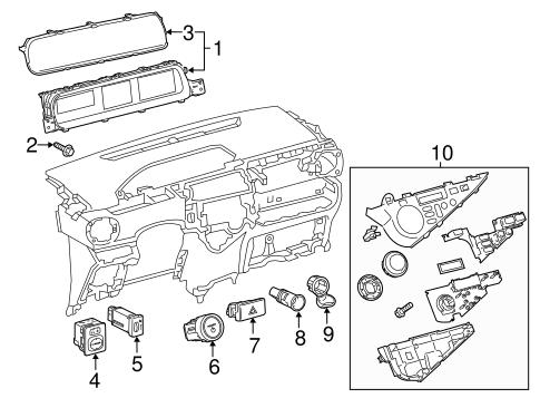 Genuine OEM Instruments & Gauges Parts for 2013 Toyota