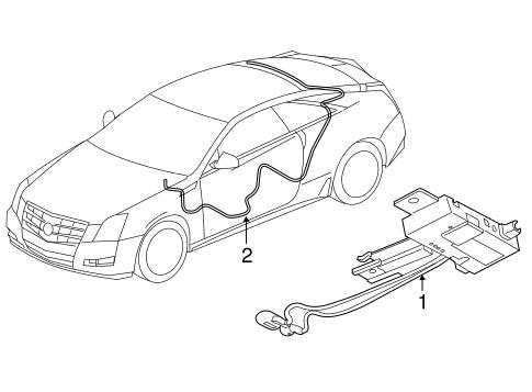 OEM 2014 Cadillac CTS Antenna & Radio Parts