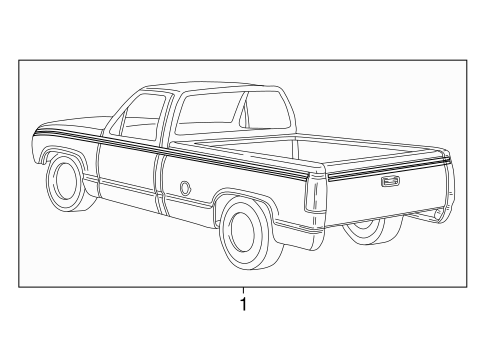 OEM STRIPE TAPE for 1995 Chevrolet K2500 Pickup