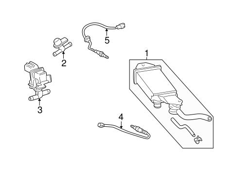 Genuine OEM Emission Components Parts for 2005 Scion xB