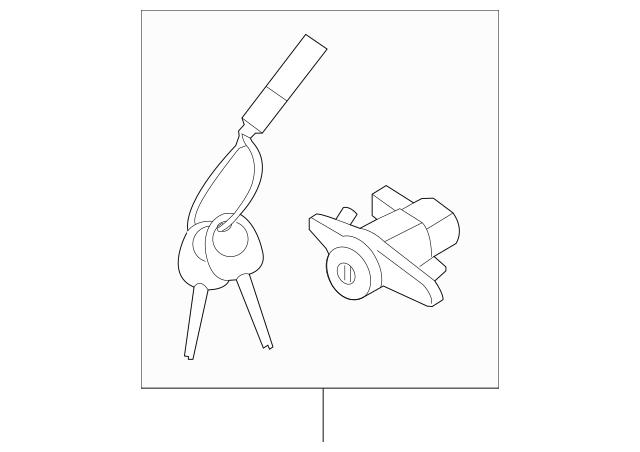 Buy this Genuine 2014-2018 Kia Lock Cylinder 81250-A7A00