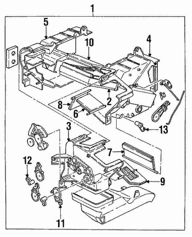 1997 Isuzu Trooper Heater Core