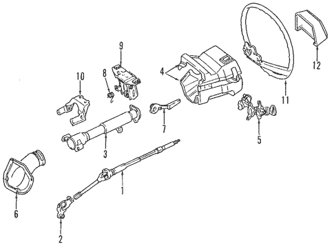 Genuine OEM Steering Column Parts for 1985 Toyota Corolla