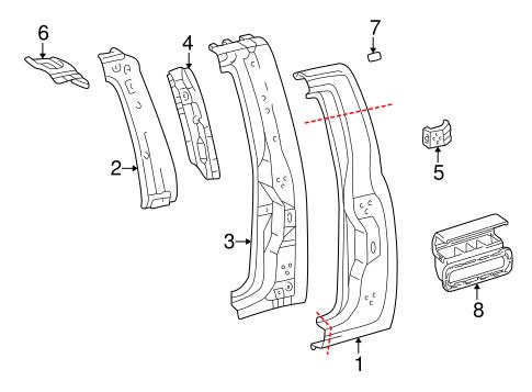 Genuine OEM Side Panel Parts for 2004 Toyota Tundra SR5