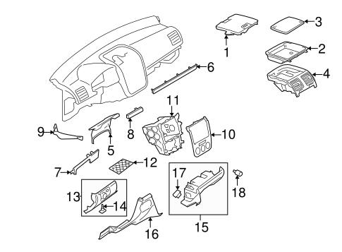 OEM VW Instrument Panel Components for 2006 Volkswagen