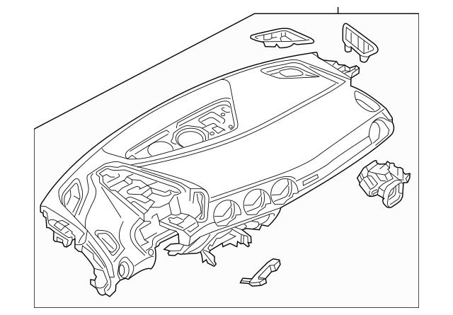 2016-2020 Audi TT Quattro Instrument Panel 8S1-857-001-Q