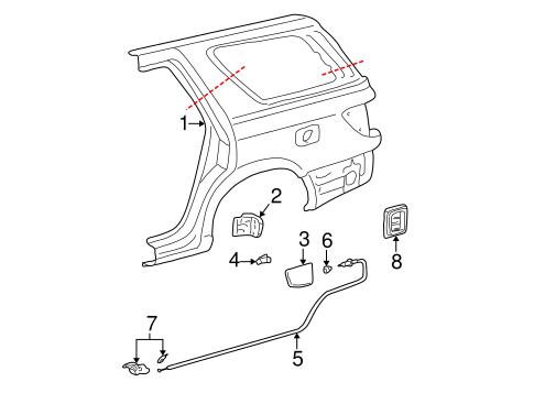 Genuine OEM Quarter Panel & Components Parts for 2002