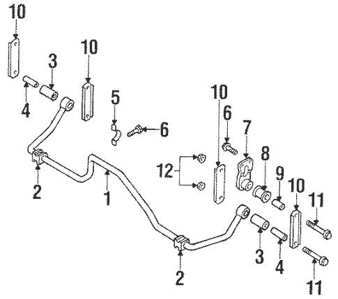 Stabilizer Bar & Components for 2001 Isuzu Rodeo Sport