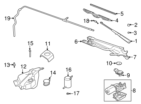 Wiper & Washer Components for 2004 Buick Regal