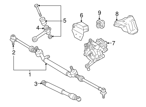 Steering Gear & Linkage for 1999 Mercedes-Benz CLK 320