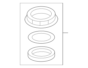 2010-2016 Honda Nut & Gasket Set, Fuel Lock 17046-TM8-L00