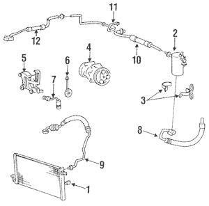 Condenser, Compressor & Lines for 1994 Hyundai Excel