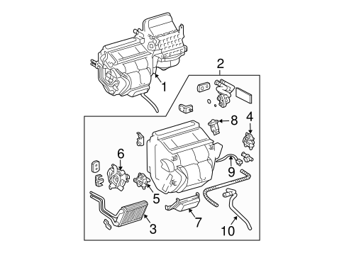 Genuine OEM Heater Parts for 2008 Toyota Sienna LE