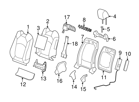 Front Seat Components for 2011 Chevrolet Traverse