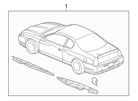 OEM 2003 Chevrolet Monte Carlo Stripe Tape Parts
