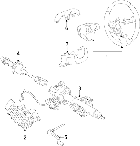 OEM STEERING COLUMN for 2012 Chevrolet Malibu