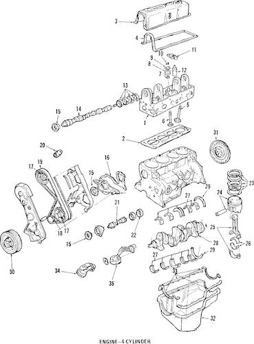 1985 Thunderbird Ledningsdiagram