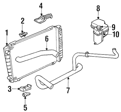 Radiator & Components for 1995 Lincoln Town Car