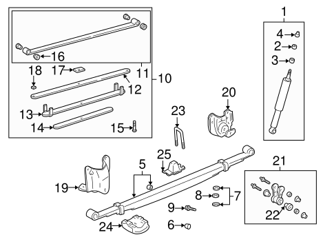 Genuine OEM REAR SUSPENSION Parts for 2002 Toyota Tundra