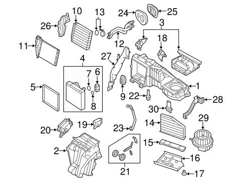 Evaporator & Heater Components for 2008 Volkswagen R32